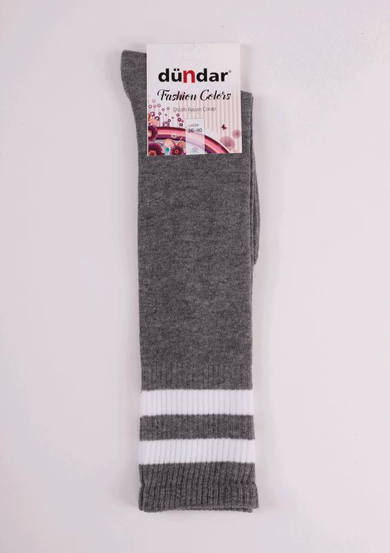 DÜNDAR - Dündar Dizaltı Çorap 3004 | Gri