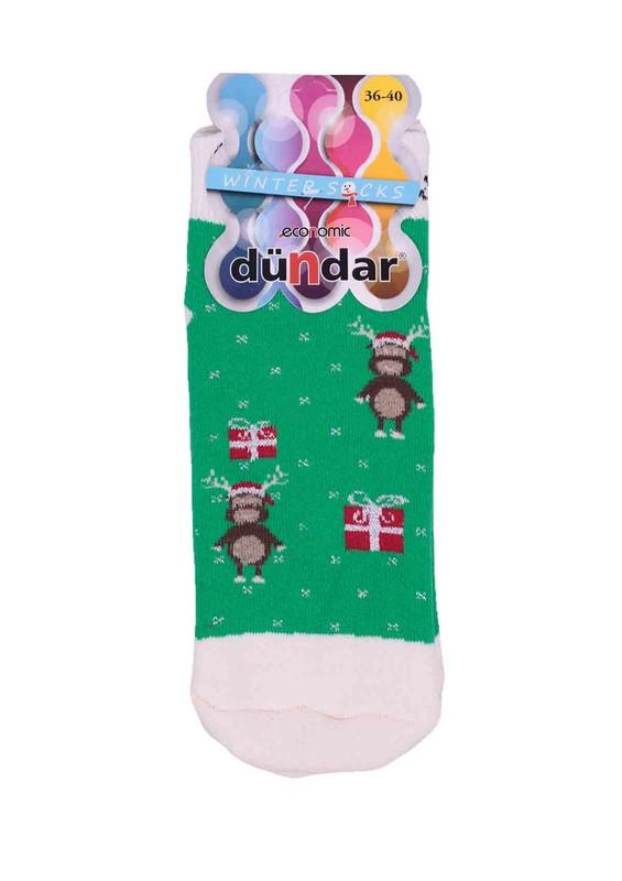 DÜNDAR - Dündar Havlu Soket Çorap 009   Yeşil