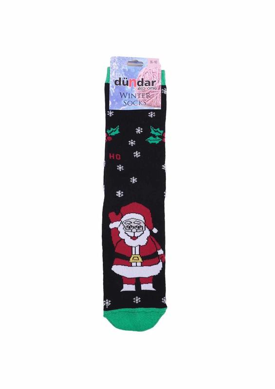 DÜNDAR - Dündar Kar Tanesi Desenli Havlu Çorap 504   Siyah