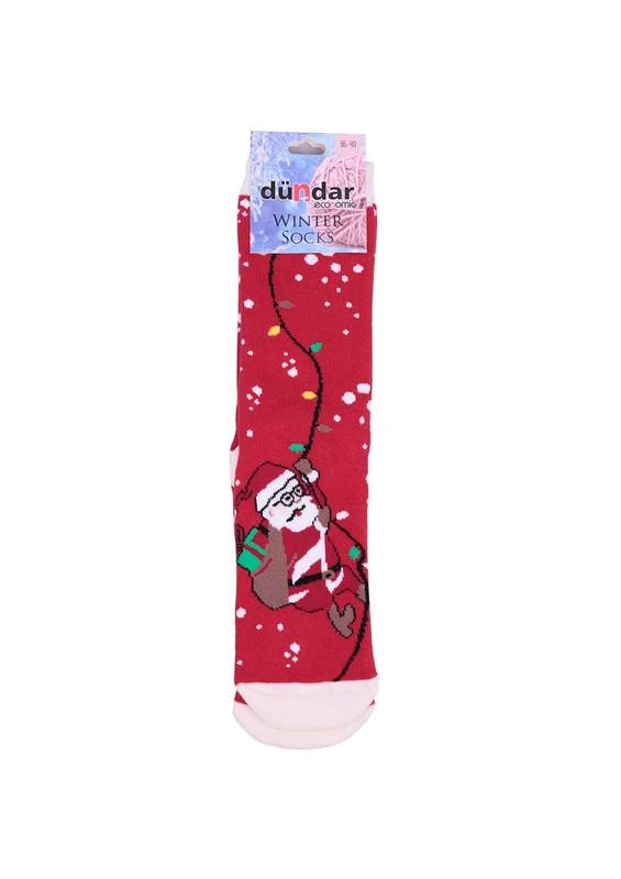 DÜNDAR - Dündar Kırmızı Havlu Soket Çorap 504   Kırmızı