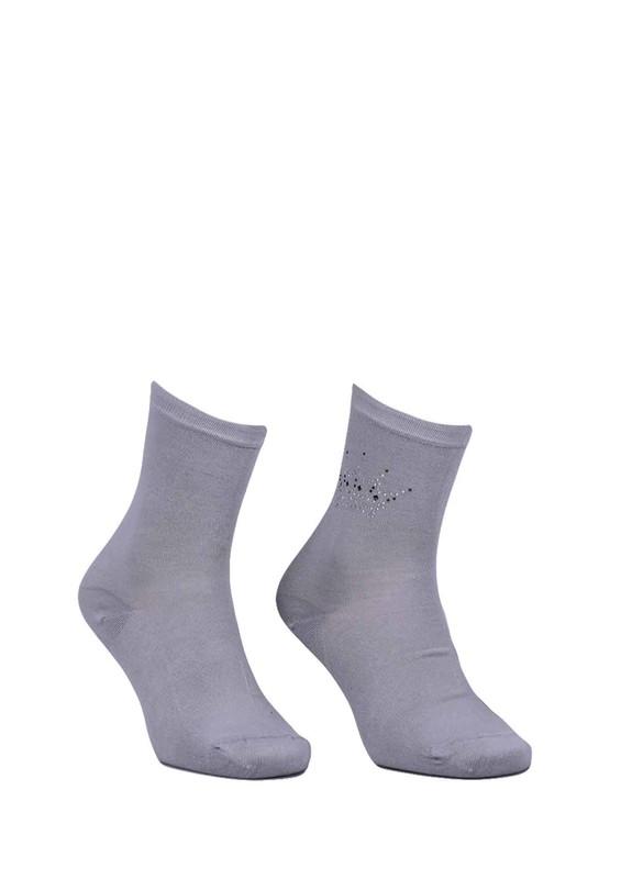 DÜNDAR - Dündar Taç Desenli Çorap 8508 | Gri