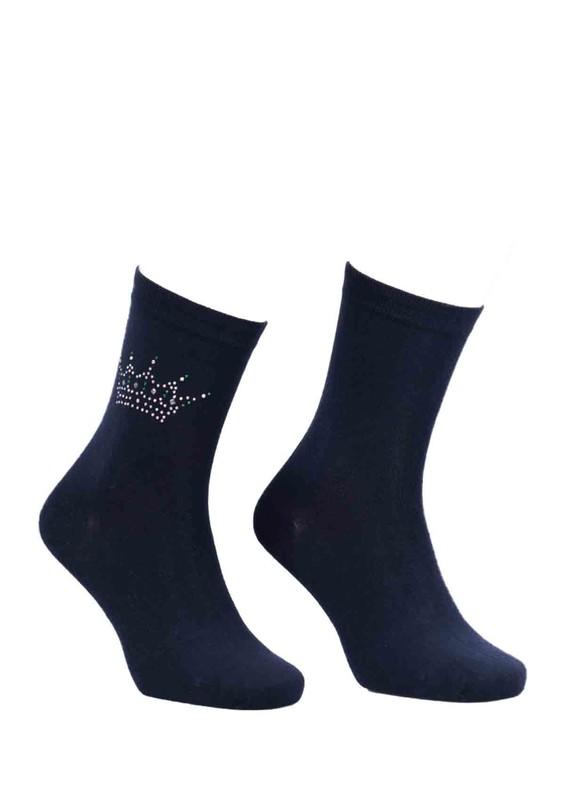 DÜNDAR - Dündar Taç Desenli Çorap 8508 | Lacivert
