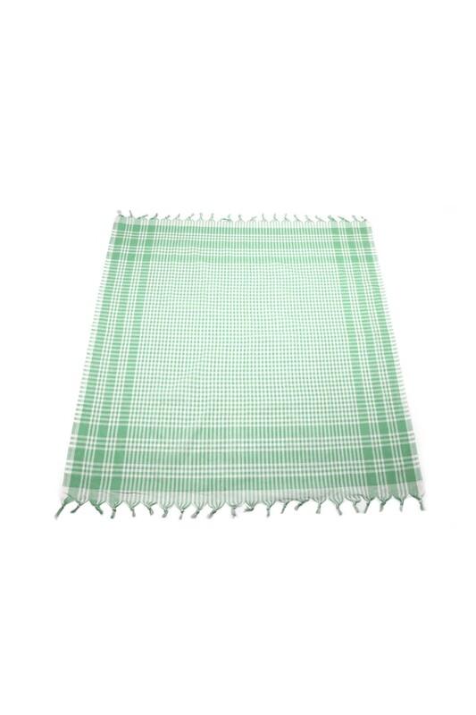 SİMİSSO - Ekoseli Sofra Bezi 160x160 cm | Yeşil