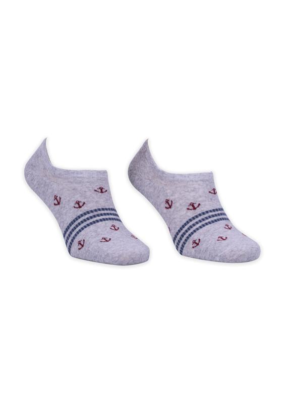 ROFF - Bamboo Çapa Desenli Erkek Babet Çorabı | Gri
