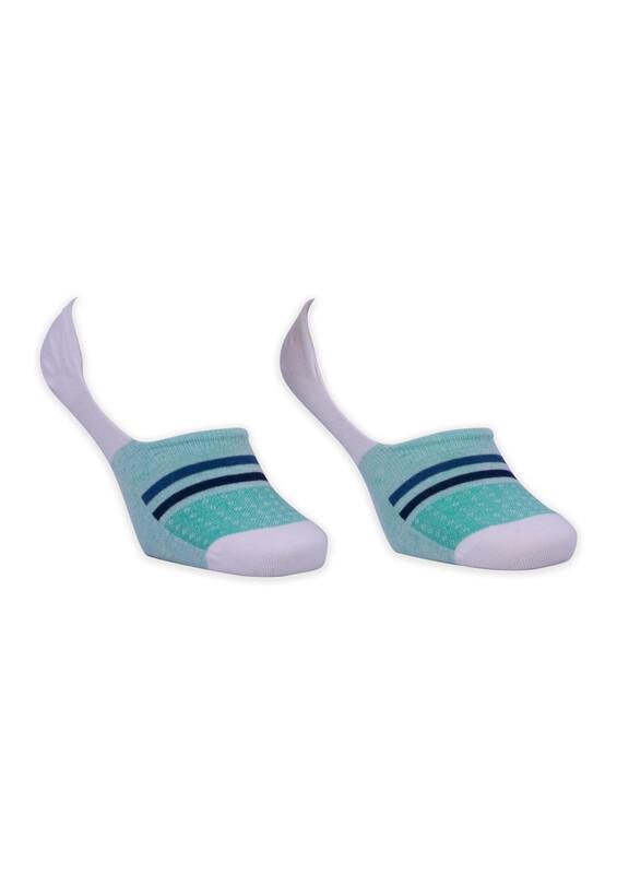 ROFF - Bamboo Çizgili Erkek Babet Çorabı | Koyu Yeşil