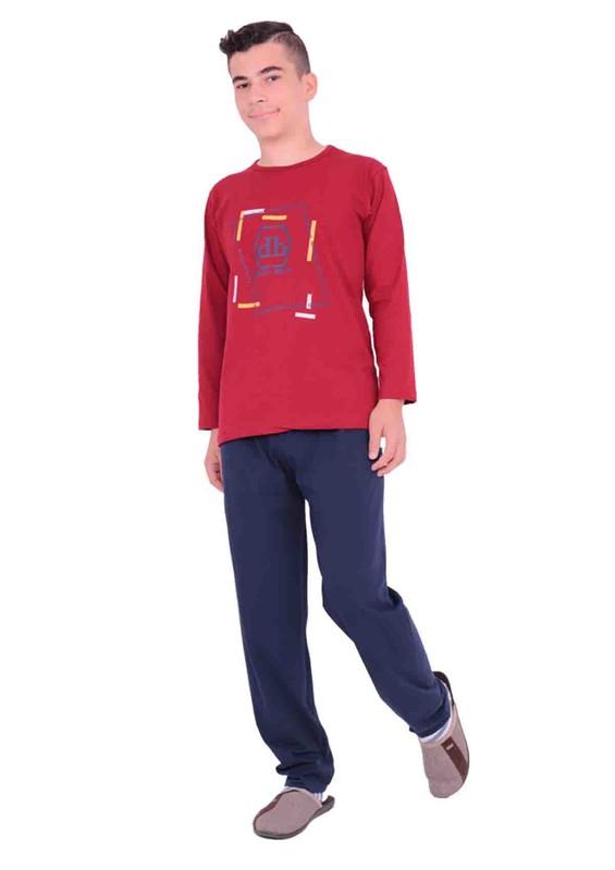 SİMİSSO - Simisso Çocuk Pijama Takımı 7104 | Bordo