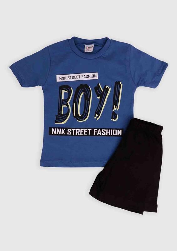 NNK - NNK Boy Baskılı Erkek Çocuk 2'li Takım | Lacivert
