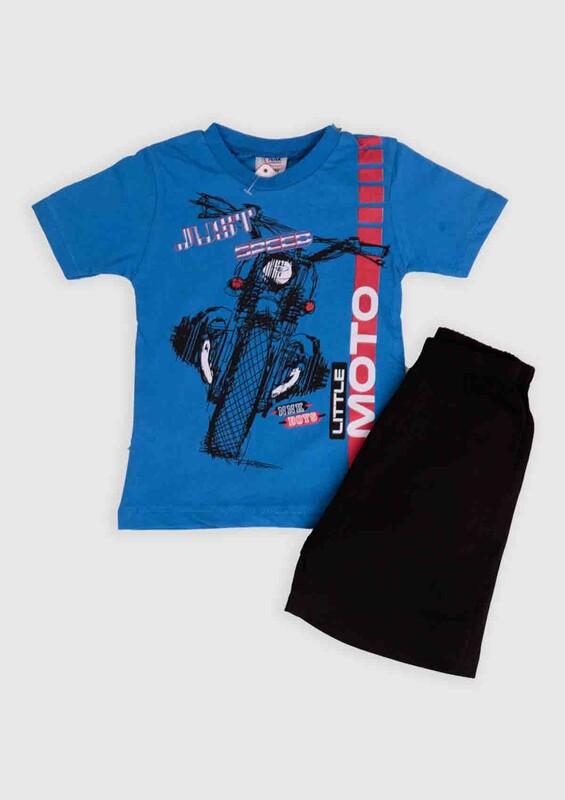 NNK - NNK Just Speed Baskılı Erkek Çocuk 2'li Takım | Mavi