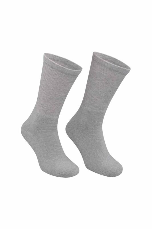 DÜNDAR - Erkek Tenis Havlu Çorap 7002   Gri
