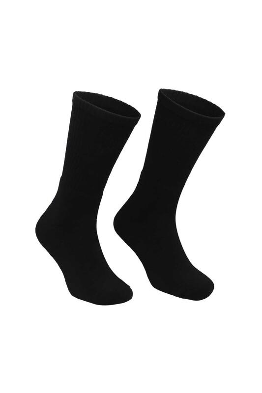 DÜNDAR - Erkek Tenis Havlu Çorap 7002   Siyah