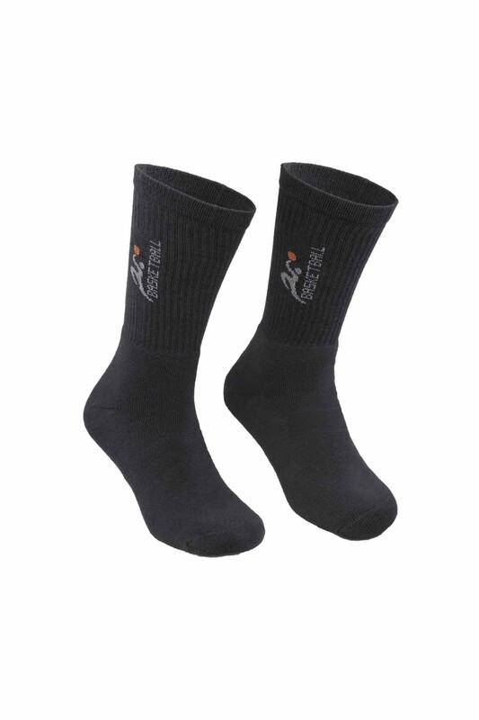 DÜNDAR - Erkek Desenli Tenis Havlu Çorap 7002   Antrasit