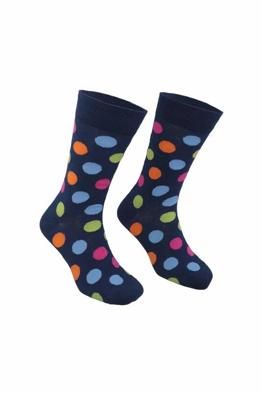 PİERRE CARDİN - Pierre Cardin Marble Desenli Erkek Çorap 209   Lacivert