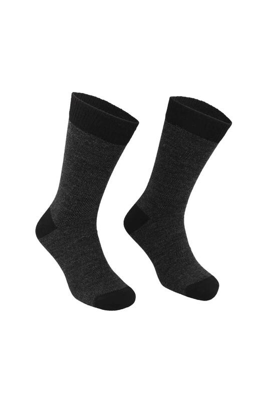 PİERRE CARDİN - Pierre Cardin Erkek Yün Çorap 504   Siyah