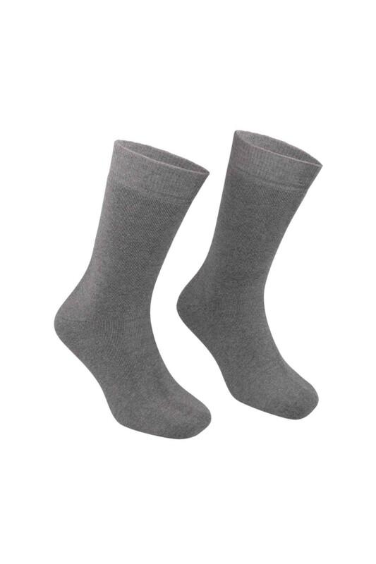 PİERRE CARDİN - Pierre Cardin Erkek Düz Havlu Çorap 585   Gri