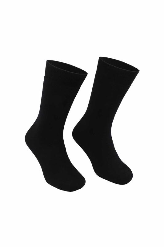 PİERRE CARDİN - Pierre Cardin Erkek Düz Havlu Çorap 585   Siyah