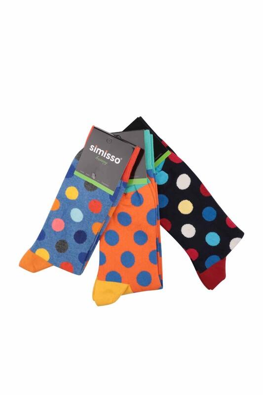 SİMİSSO - Simisso Renkli Çorap Seti 3'lü   Set 12