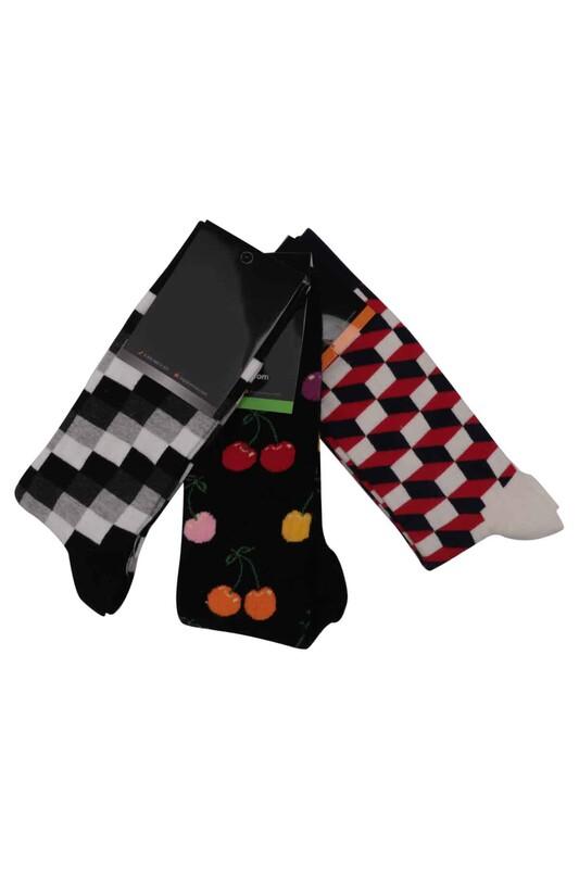 SİMİSSO - Simisso Renkli Çorap Seti 3'lü   Set 8