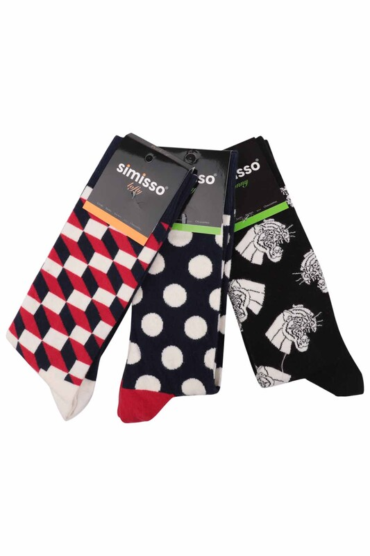 SİMİSSO - Simisso Renkli Çorap Seti 3'lü | Set 4