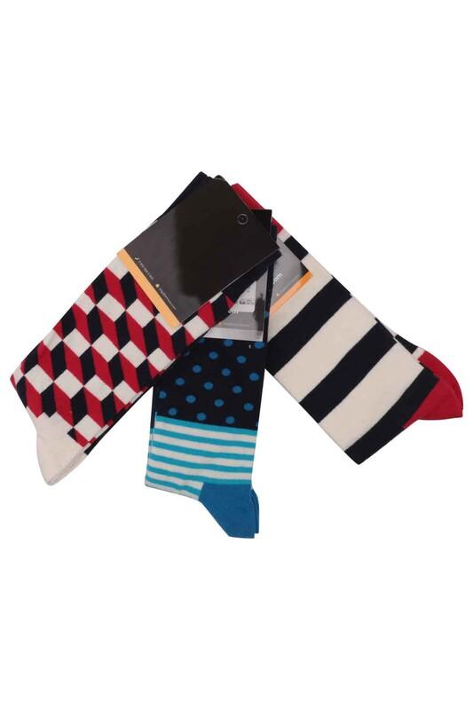 SİMİSSO - Simisso Renkli Çorap Seti 3'lü   Set 26