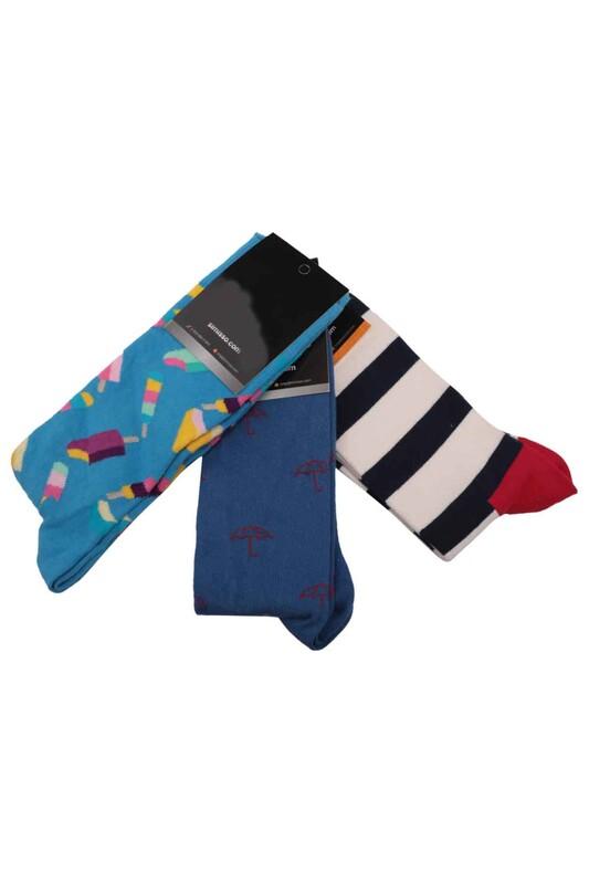 SİMİSSO - Simisso Renkli Çorap Seti 3'lü | Set 35