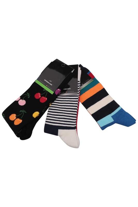 SİMİSSO - Simisso Renkli Çorap Seti 3'lü   Set 29