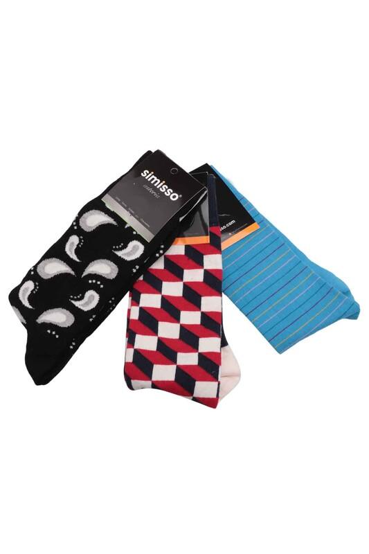 SİMİSSO - Simisso Renkli Çorap Seti 3'lü   Set 57