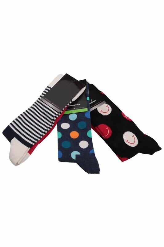 SİMİSSO - Simisso Renkli Çorap Seti 3'lü   Set 49