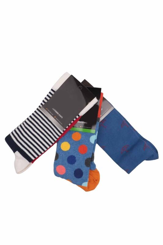SİMİSSO - Simisso Renkli Çorap Seti 3'lü   Set 69
