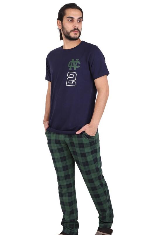 JİBER - Jiber Erkek Kısa Kollu Pijama Takımı 4609 | Lacivert