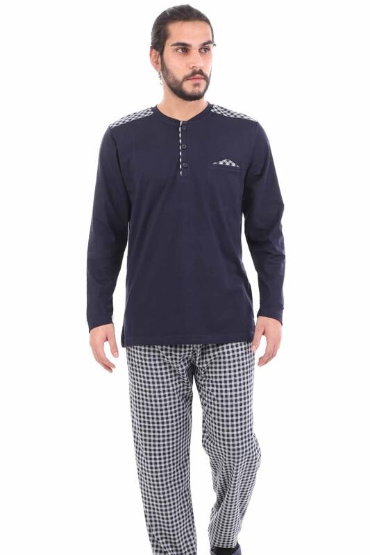 POLEREN - Poleren Pijama Takımı 6043 | Lacivert