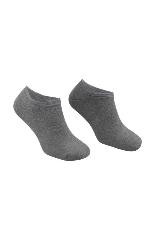 PİERRE CARDİN - Pierre Cardin Erkek Havlu Patik Çorap 4300   Gri