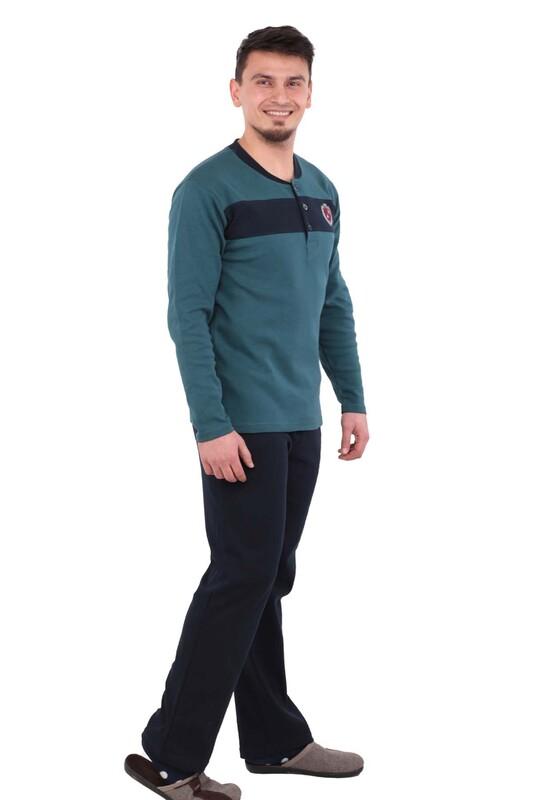 AKASYA - Uzun Kollu Erkek Pijama Takımı 1206 | Yeşil