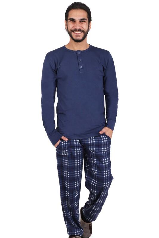 AYDOĞAN - Aydoğan Uzun Kol Modal Pijama Takımı 3930 | Lacivert