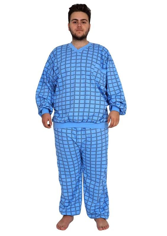 İtan Pijama Takımı 373 | Mavi - Thumbnail