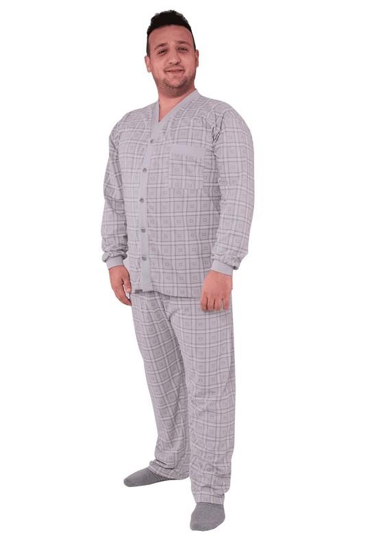ITAN - İtan Pijama Takımı 506 | Kahverengi