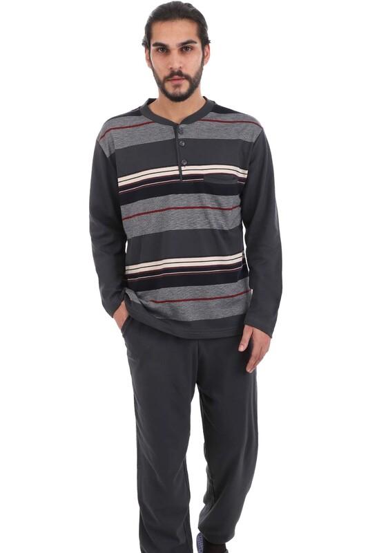 PERTAŞ - Pertaş Pijama Takımı 510 | Füme