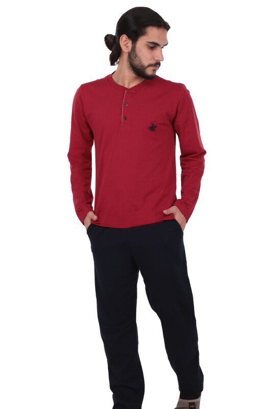 POLO CLUP - Polo Clup Pijama Takımı 881 | Bordo