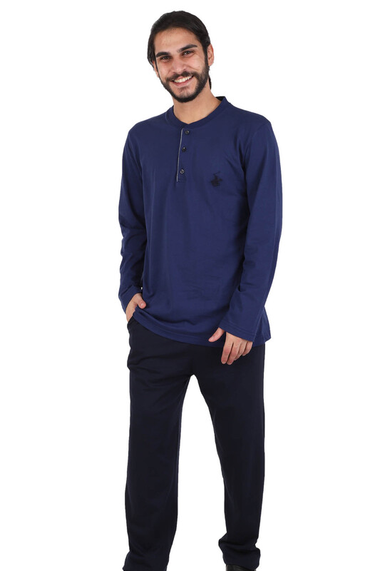 POLO CLUP - Polo Clup Pijama Takımı 881 | İndigo