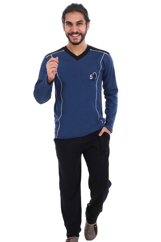 SUDE - Sude İnterlok Erkek Pijama Takımı | Lacivert