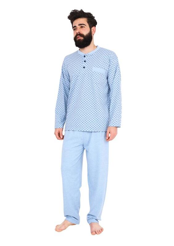 FAPİ - Fapi Erkek Pijama Takımı 5202 | Mavi