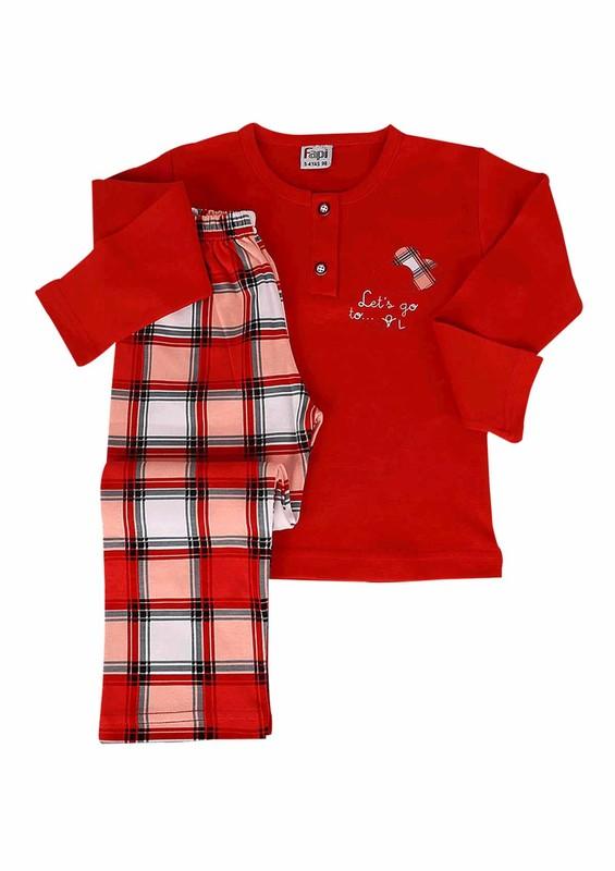 FAPİ - Fapi Pijama Takımı 5116   Kırmızı