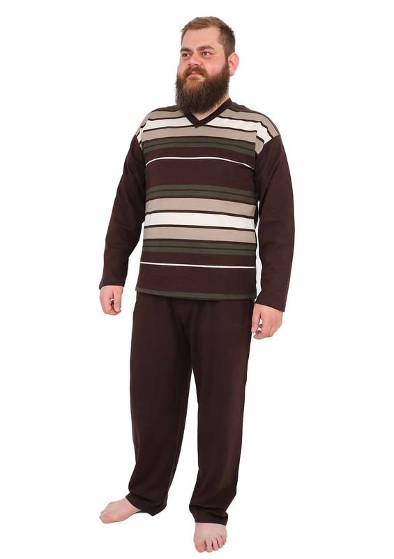 FAPİ - Fapi Pijama Takımı 923 | Kahverengi