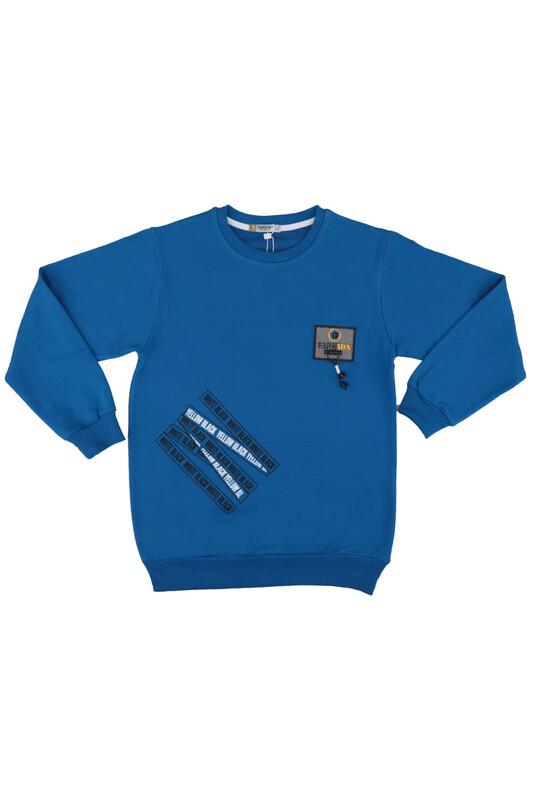 Tanem - Fashion Armalı Erkek Çocuk Sweatshirt | Mavi