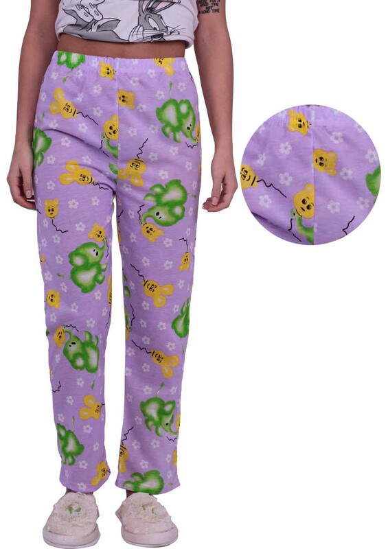 SİMİSSO - Fil Desenli Kadın Pijama Altı | Lila
