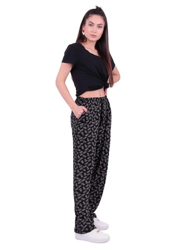 SİMİSSO - Geniş Paçalı Battal Viskon Pantolon | Siyah