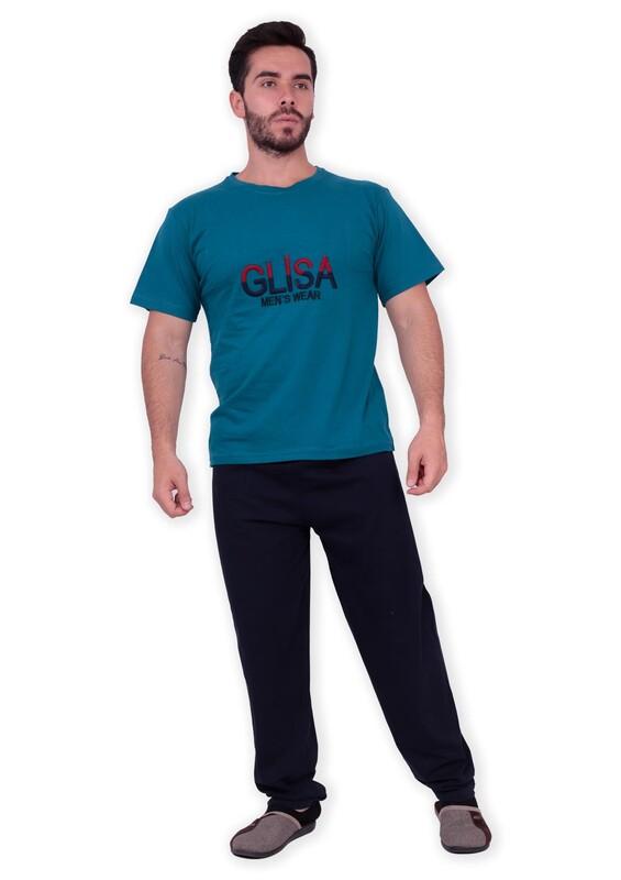 GLİSA - Glisa Kısa Kollu Erkek Pijama Takımı | Yeşil