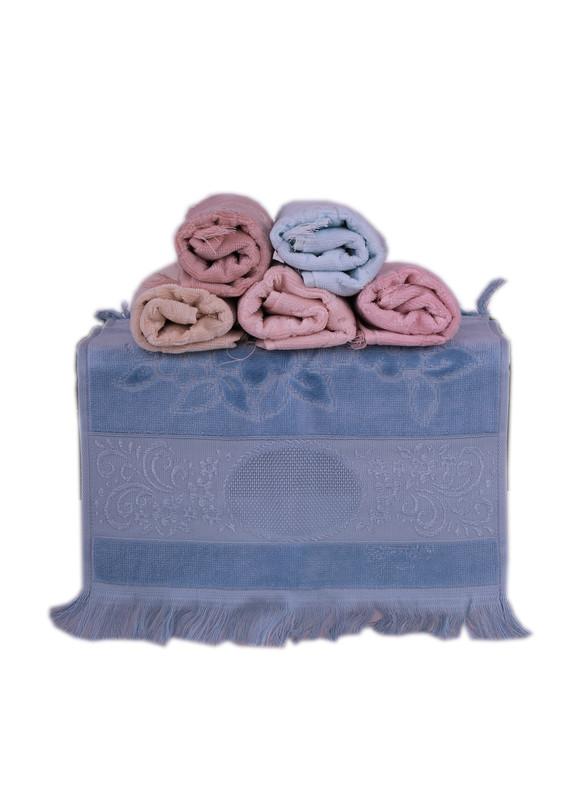 GONCA - Gonca İşlemelik El Havlusu 308 | Mavi