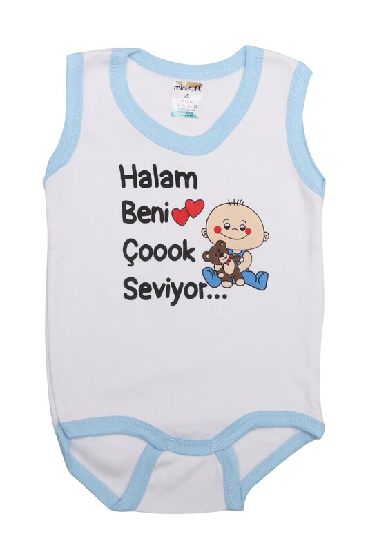 SİMİSSO - Halam Beni Çok Seviyor Bebek Zıbın   Mavi