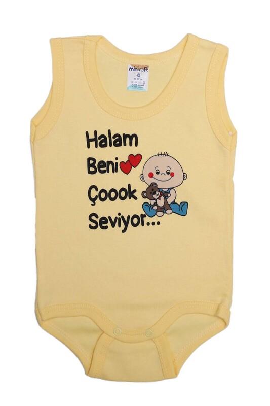 SİMİSSO - Halam Beni Çok Seviyor Bebek Zıbın   Sarı