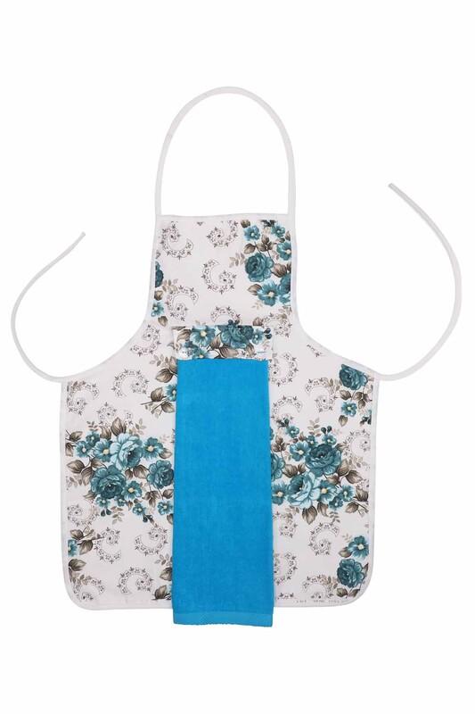 SİMİSSO - Havlulu Mutfak Önlüğü | Mavi